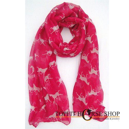 Shawl paard roze