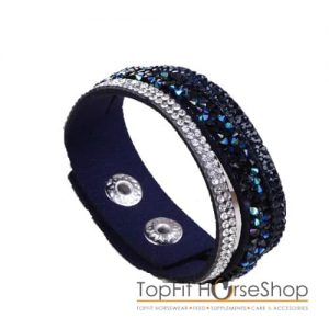 armband suede glitter navy