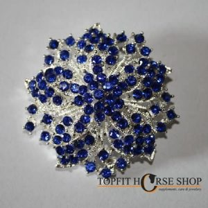 plastronspeld blauw bloem
