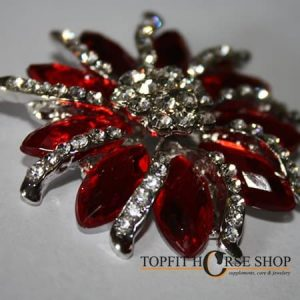 plastronspeld bloem rood 1
