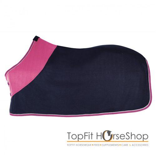 pfiff-fleece-deken-roze-blauw