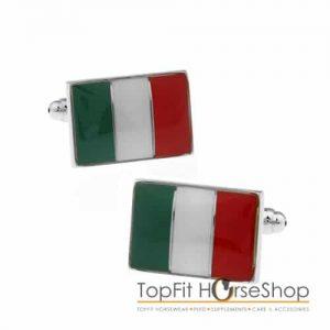 manchetknoop italiaanse vlag