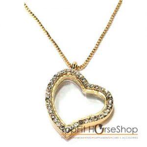 memory locket gold heart