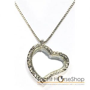 memory silver heart strass