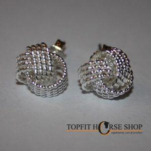 zilveren oorbellen met knoop