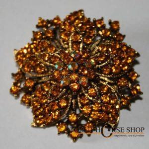plastronspeld oranje bruin 2