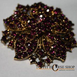 plastronspeld paars goud