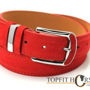 Riem rood suede
