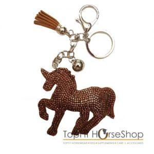 sleutelhanger-unicorn-bruin