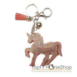 sleutelhanger-unicorn-licht-rose