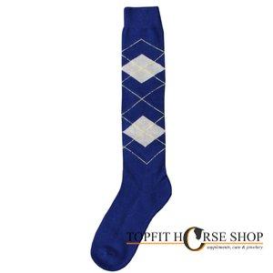paardrijsokken blauw
