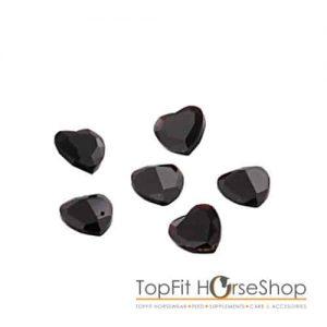 Memory locket jewel black hearts