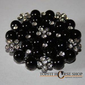 plastronspeld parel zwart