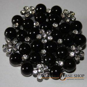 plastronspeld parel zwart 1